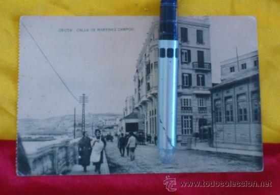 CEUTA ,CALLE DE MARTINEZ CAMPOS , FOTOTIPIA DE HAUSER Y MENET MADRID ,14X9 (Postales - España - Melilla Antigua (hasta 1939))