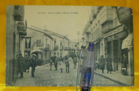 CEUTA ,CALLE JOSE LUIS DE TORRES , FOTOTIPIA DE HAUSER Y MENET MADRID ,14X9 (Postales - España - Melilla Antigua (hasta 1939))