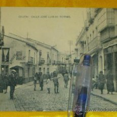 Postales: CEUTA ,CALLE JOSE LUIS DE TORRES , FOTOTIPIA DE HAUSER Y MENET MADRID ,14X9. Lote 32788774