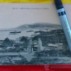 Postales: CEUTA ,VISTA PARCIAL Y ENTRADA A LA HIPICA , FOTOTIPIA DE HAUSER Y MENET MADRID ,14X9. Lote 32788803