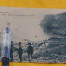 Postales: ALHUCEMAS BAHIA DE CALA DEL QUEMAO , FOTOTIPIA DE HAUSER Y MENET MADRID ,14X9. Lote 35933963