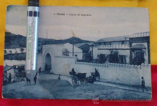 POSTAL NUM 6, CEUTA, CUARTEL DE REGULARES ,14X9 (Postales - España - Melilla Antigua (hasta 1939))