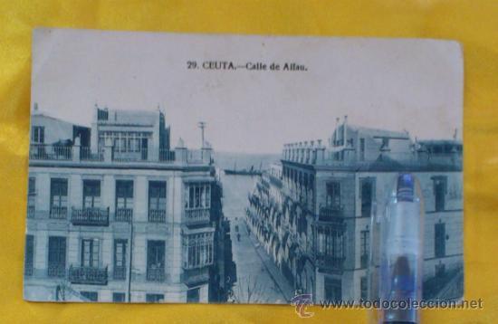 POSTAL NUM 29, CEUTA, CALLE DE ALFAU ,14X9, ESCRITA DEL 3-1-1925 (Postales - España - Melilla Antigua (hasta 1939))