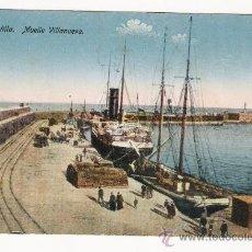 Postales: MELILLA .- MUELLE VILLANUEVA .- EDICION BOIX. Lote 34058194
