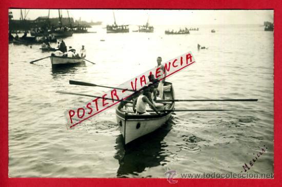 POSTAL MELILLA , FERIA , 1928 , REGATA MILITAR , REGATAS , FOTOGRAFICA , ORIGINAL ,P72999 (Postales - España - Melilla Antigua (hasta 1939))