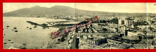 POSTAL CUADRUPLE , MELILLA , VISTA GENERAL , ORIGINAL ,P73000D (Postales - España - Melilla Antigua (hasta 1939))