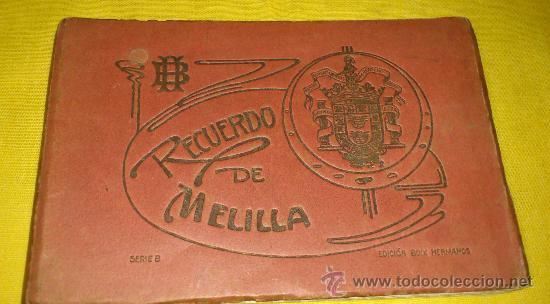 Postales: librillo 20 postales y vista general de 4 postales, EDICION BOIX HERMANOS.- recuerdo de melilla - Foto 2 - 35320756