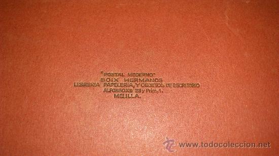 Postales: librillo 20 postales y vista general de 4 postales, EDICION BOIX HERMANOS.- recuerdo de melilla - Foto 13 - 35320756