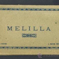 Postales: CARNET DESPLEGABLE CON 10 POSTALES DE MELILLA (VER FOTOS ADICIONALES). Lote 35461569