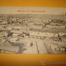 Postales: ANTIGUA TARJETA POSTAL DE MELILLA VISTA GENERAL . EDICIÓN BOIX HERMANOS - MELILLA. Lote 35988529
