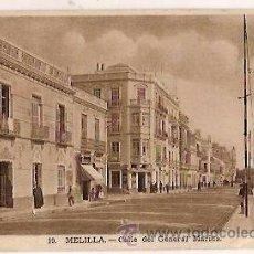 Postales: ANTIGUA POSTAL 10 MELILLA CALLE DEL GENERAL MARINA. Lote 36693453