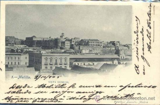 MELILLA.- VISTA GENERAL (Postales - España - Melilla Antigua (hasta 1939))