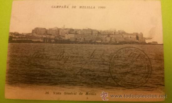 POSTAL MELILLA - CAMPAÑA DE MELILLA 1909 CIRC. 1911 PHOTO BOUMENDIL SELLO MUY RARO. VER DESCRIPCIÓN (Postales - España - Melilla Antigua (hasta 1939))