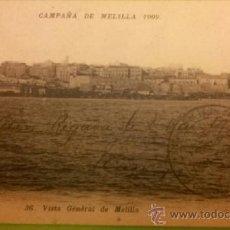 Postales: POSTAL MELILLA - CAMPAÑA DE MELILLA 1909 CIRC. 1911 PHOTO BOUMENDIL SELLO MUY RARO. VER DESCRIPCIÓN. Lote 36945156