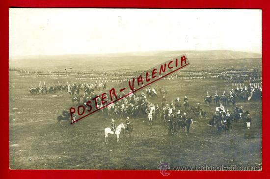 POSTAL MELILLA , VISITA REY ALFONOS XIII 1911 , MILITARES MISA , FOTOGRAFICA , ORIGINAL , P79000C (Postales - España - Melilla Antigua (hasta 1939))