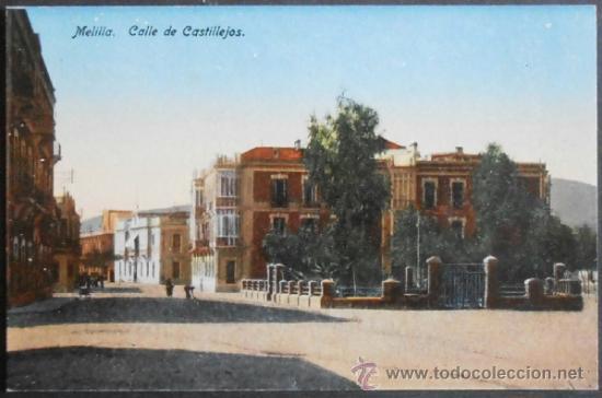 (920)POSTAL SIN CIRCULAR,CALLE DE CASTILLEJOS,MELILLA,MELILLA,MELILLA,CONSERVACION: (Postales - España - Melilla Moderna (desde 1940))