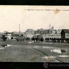 Postales: MELILLA VISTA DE LA PUERTA DEL CAMPO - EDICIÓN RIF - POSTAL MILITARES. Lote 39033770