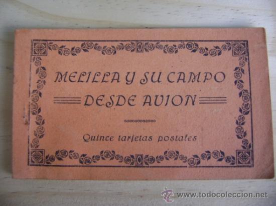 LIBRILLO O ESTUCHE, BLOC CON 10 POSTALES MELILLA Y SU CAMPO DE AVIACIÓN, M ARRIBAS (Postales - España - Melilla Antigua (hasta 1939))