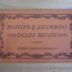 Postales: LIBRILLO O ESTUCHE, BLOC CON 10 POSTALES MELILLA Y SU CAMPO DE AVIACIÓN, M ARRIBAS. Lote 38956976