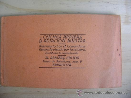 Postales: Librillo o estuche, bloc con 10 postales Melilla y su campo de aviación, M Arribas - Foto 5 - 38956976