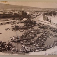 Postales: POSTAL DE MELILLA. AÑOS 30 50. AÑO 1958. VISTA DEL CLUB MARÍTIMO, BARCOS DE PESCA. 1574. . Lote 39576039