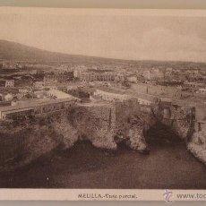 Postales: POSTAL DE MELILLA. AÑOS 30 50. VISTA PARCIAL DE MELILLA LA VIEJA, HOSPITAL DEL REY. 1576. . Lote 39576104