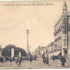 Postales: PS0421 MELILLA 'ENTRADA AL PARQUE Y CALLE DEL GENERAL MARINA'. EDICIÓN BOIX. SIN CIRCULAR. Lote 39701191
