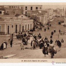 Postales: MELILLA. BARRIO DEL POLÍGONO. ANIMADA.. Lote 40179470
