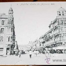 Postales: ANTIGUA POSTAL MELILLA - CALLE DE ALFONSO XIII - NO CIRCULADA - ED. BOIX HERMANOS.. Lote 39519622