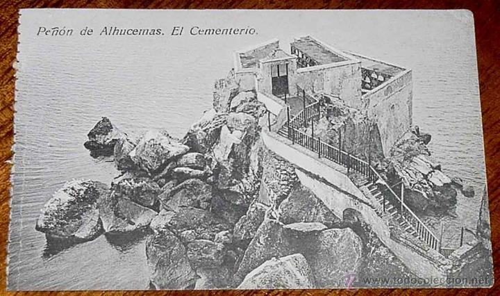 ANTIGUA POSTAL DE PEÑON DE ALHUCEMAS - MELILLA - CEMENTERIO - ED. BOIX HERMANOS - NO CIRCULADA. (Postales - España - Melilla Antigua (hasta 1939))