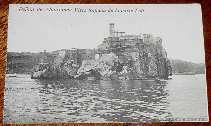 ANTIGUA POSTAL DE PEÑON DE ALHUCEMAS - MELILLA - ED. BOIX HERMANOS - NO CIRCULADA. (Postales - España - Melilla Antigua (hasta 1939))