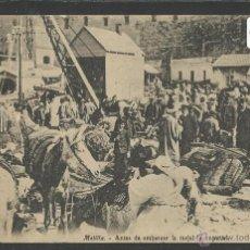 Postales: MELILLA - ANTES DE EMBARCAR - VER REVERSO SELLO BATALLON CAZADORES DE ESTELLA - (19359). Lote 41575837