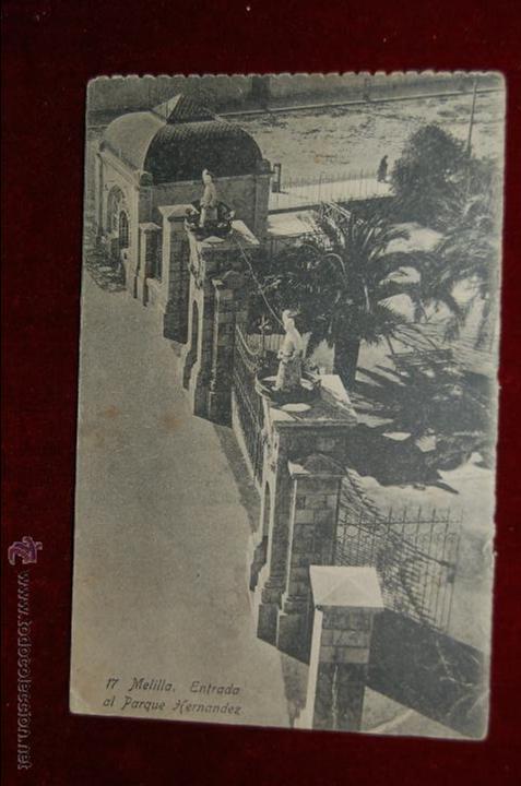 ANTIGUA POSTAL DE MELILLA. ENTRADA AL PARQUE HERNANDEZ. SIN CIRCULAR (Postales - España - Melilla Antigua (hasta 1939))