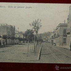 Postales: ANTIGUA POSTAL DE MELILLA. CALLE DEL GENERAL BUCETA. SIN CIRCULAR. Lote 42509520
