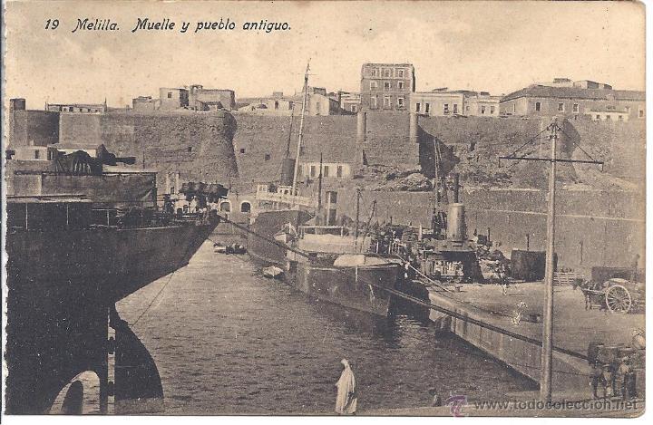 PS4245 MELILLA 'MUELLE Y PUEBLO ANTIGUO'. EDICIÓN BOIX. SIN CIRCULAR (Postales - España - Melilla Antigua (hasta 1939))