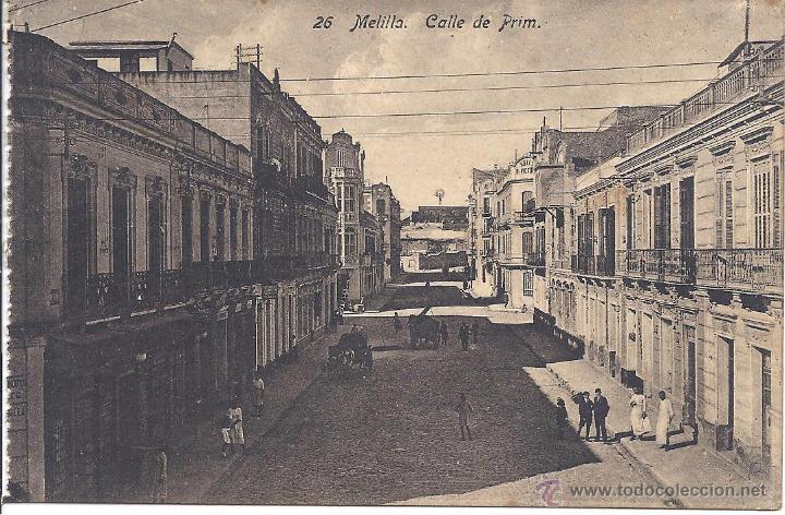 PS4249 MELILLA 'CALLE DE PRIM'. EDICIÓN BOIX. SIN CIRCULAR (Postales - España - Melilla Antigua (hasta 1939))