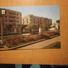 Postales: POSTAL MELILLA PARQUE HERNANDEZ MONUMENTO A LOPEZ DE VEGA ESCRITA. Lote 42797920