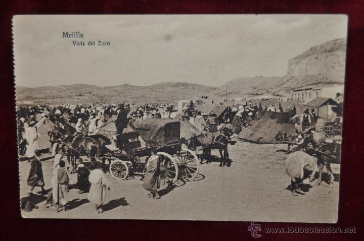 ANTIGUA POSTAL DE MELILLA. VISTA DEL ZOCO. ESCRITA (Postales - España - Melilla Antigua (hasta 1939))