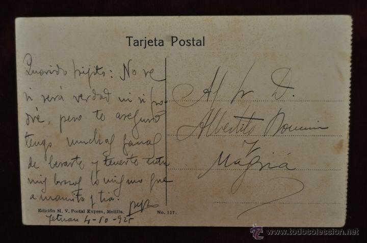 Postales: ANTIGUA POSTAL DE MELILLA. VISTA DEL ZOCO. ESCRITA - Foto 2 - 43236369