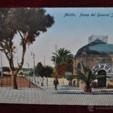 Postales: ANTIGUA POSTAL DE MELILLA. PASEO DEL GENERAL JORDANA. ESCRITA. Lote 43246279