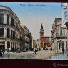 Postales: ANTIGUA POSTAL DE MELILLA. CALLE DE CANALEJAS. CIRCULADA. Lote 43246289
