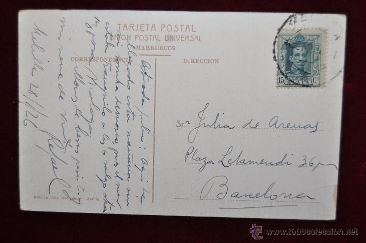 Postales: ANTIGUA POSTAL DE MELILLA. CALLE DE CANALEJAS. CIRCULADA - Foto 2 - 43246289