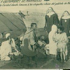Cartoline: HERMANAS DE LA CARIDAD CON CHIQUILLOS POBLADO NADOR. TIPOS Y COSTUMBRES. HACIA 1910. Lote 43810020