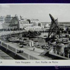 Postales: POSTAL DE MELILLA. Nº 10 FLOTA PESQUERA. FOTO IMPERIO. AÑOS 50. Lote 133565925