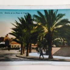 Postales: POSTAL MELILLA. DETALLE DE LA PLAZA DE ESPAÑA. HERMANOS BOIX.. Lote 45600573