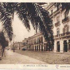 Postales: MELILLA- TÁNGER. CIRCULADA. 28 DE NOVIEMBRE DE 1941. CALLE MARINA.. Lote 47303675