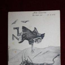 Postales: ARTE TAURINO... UN BUEN PAR. ANTIGUA POSTAL CARICATURA. S/C. MELILLA. AÑOS 1910S. COLONIAS.... Lote 47771782