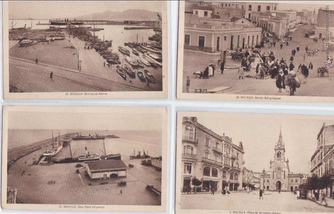 P-750. LOTE 8 ANTIGUAS POSTALES FOTOGRAFICAS DE MELILLA, PRINCIPIOS DE SIGLO. (Postales - España - Melilla Antigua (hasta 1939))