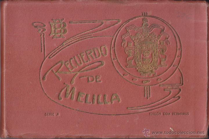 RECUERDO DE MELILLA. SERIE A - BOIX HERMANOS. 20 BONITAS VISTA EN COLOR, (UNA TAMAÑO QUÍNTUPLE) (Postales - España - Melilla Antigua (hasta 1939))