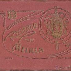 Postales: RECUERDO DE MELILLA. SERIE A - BOIX HERMANOS. 20 BONITAS VISTA EN COLOR, (UNA TAMAÑO QUÍNTUPLE). Lote 48661223